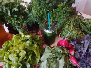 jus vert végétaux